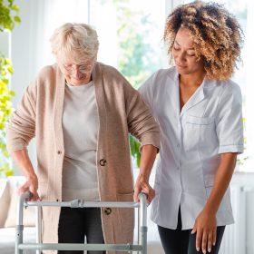 Elderly Women Walking Eehab
